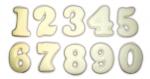 Čísla - bílá čokoláda (3,5x4,5cm)