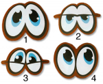 Oči (4,4x3,1cm)