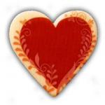 Srdce popisovatelné (5,2x5,2cm)